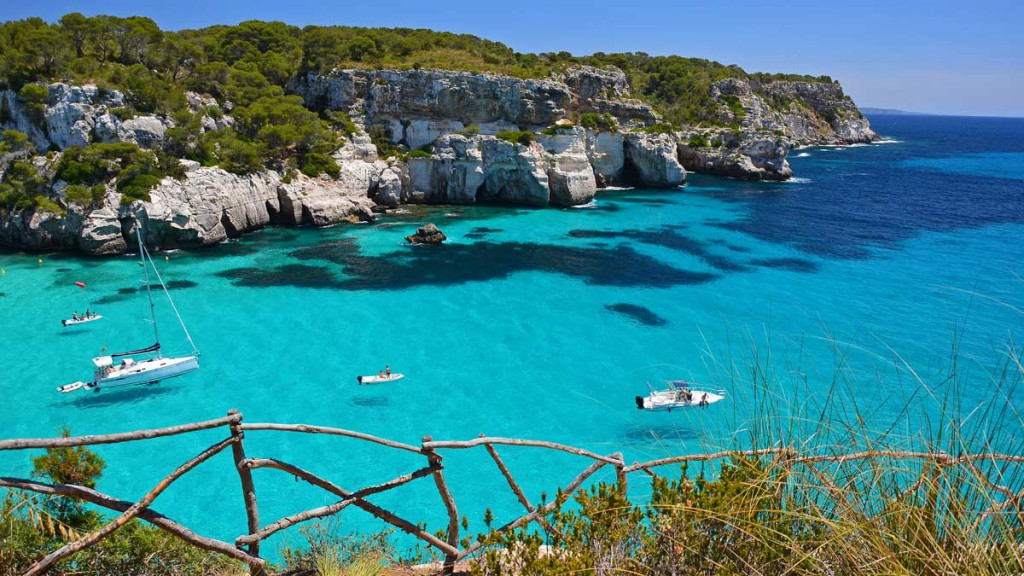 Menorca property buyers enjoy crystal clear waters of Balearic Islands.