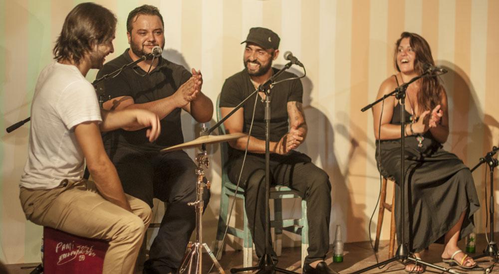flamenco musicians sunset market puerto portals