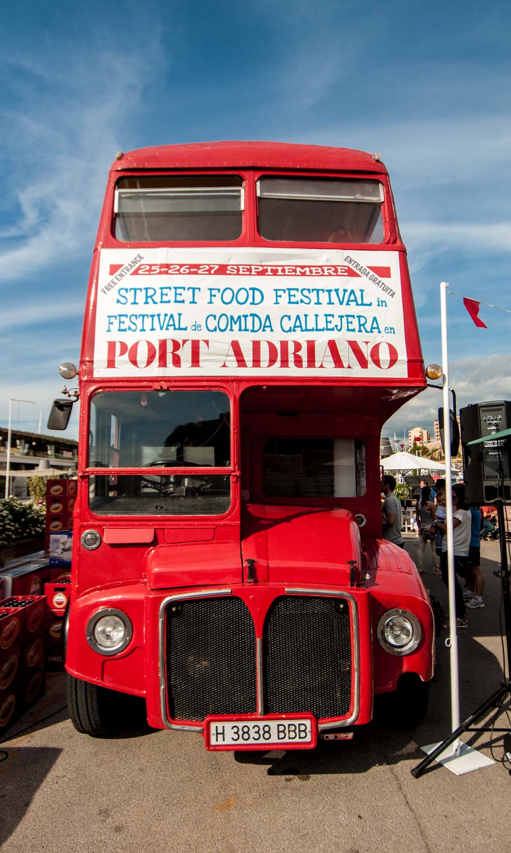 Port Adriano Mallorca street food festival red bus cafe restaurant casafari real estate neighbourhood guides