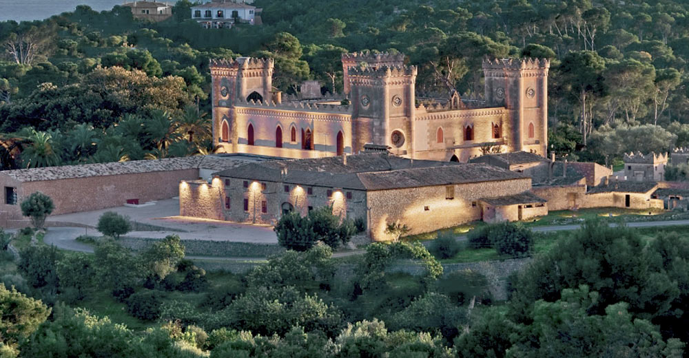 Bendinat property owner admire Bedninat castle in gothic style.