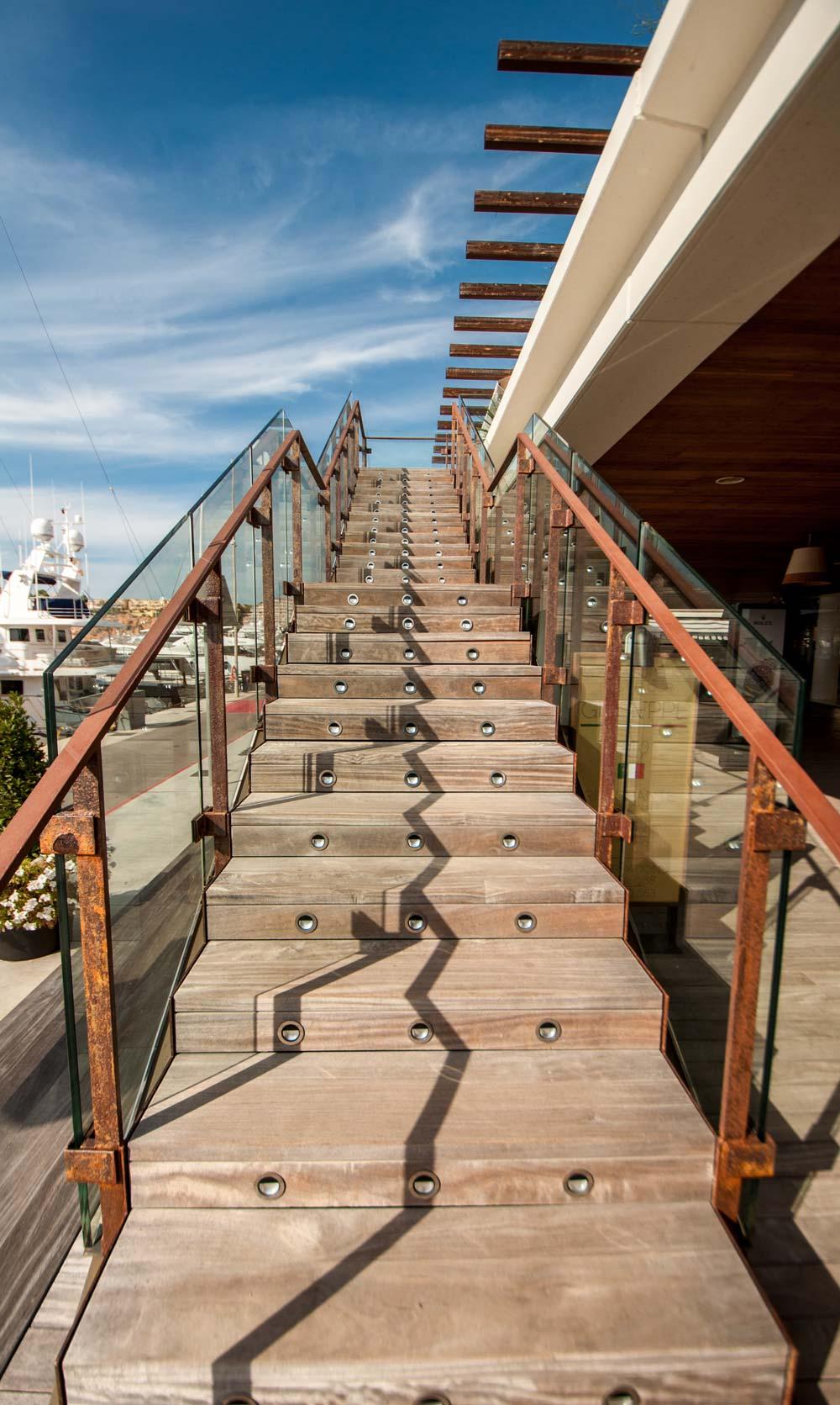 port-adriano-philippe-starck-stairs