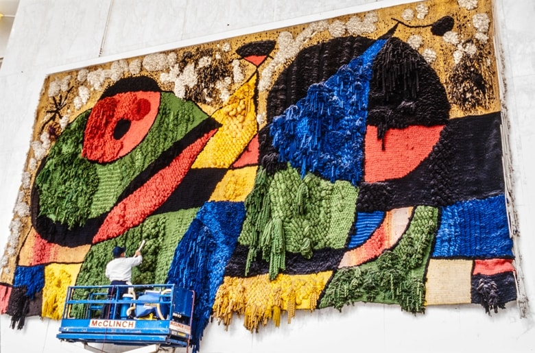 Tapestry of Joan Miro casafari article blog 20 reasons facts to love about and live in spain buy real estate property