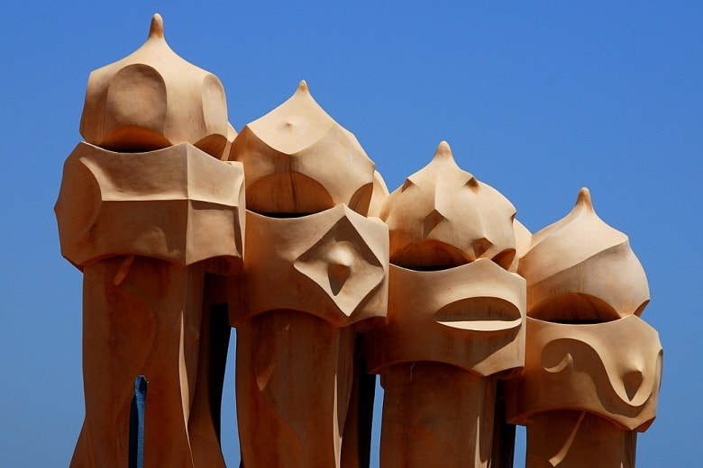 Gaudi's Sentinels Or Warriors Line The Roof Of Casa Mila Catalonia Spain Casafari buy real estate property