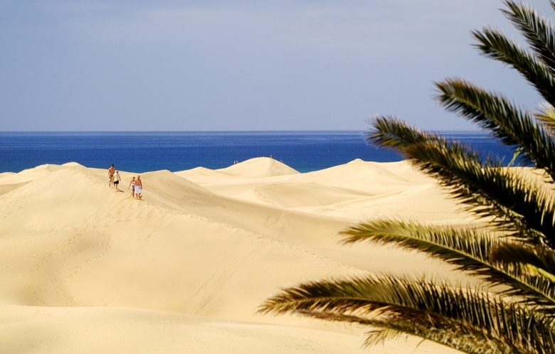 Maspalomas Gran Canaria Canary Islands Spain sandy beach blue sea casafari buy property real estate