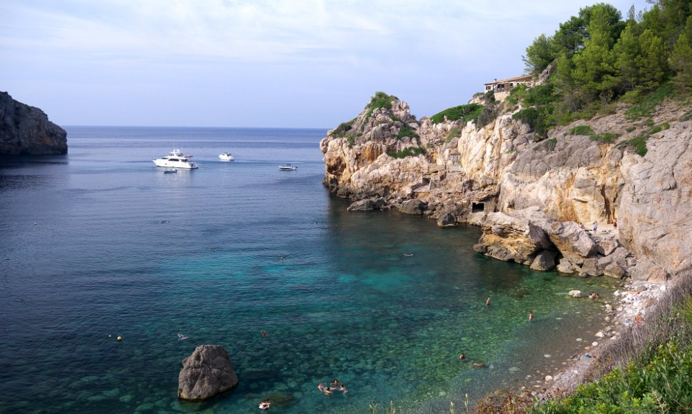 Deia property market is surrounded by natural beauty. Another view from Cala Deia.