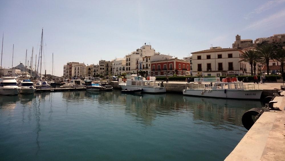 la marina ibiza old town dalt vila spain