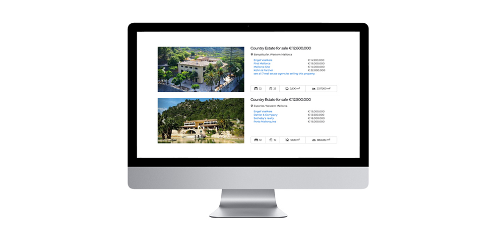 Property search and price comparison for estate professionals in Mallorca and Ibiza casafari