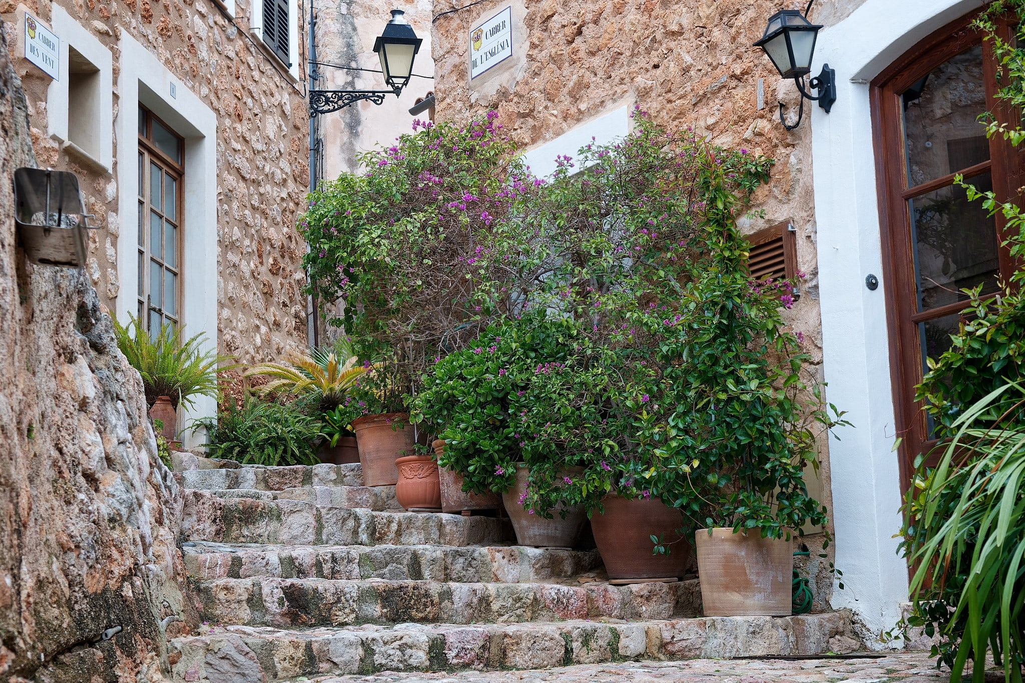 fornalutx town winding stone streets soller mallorca