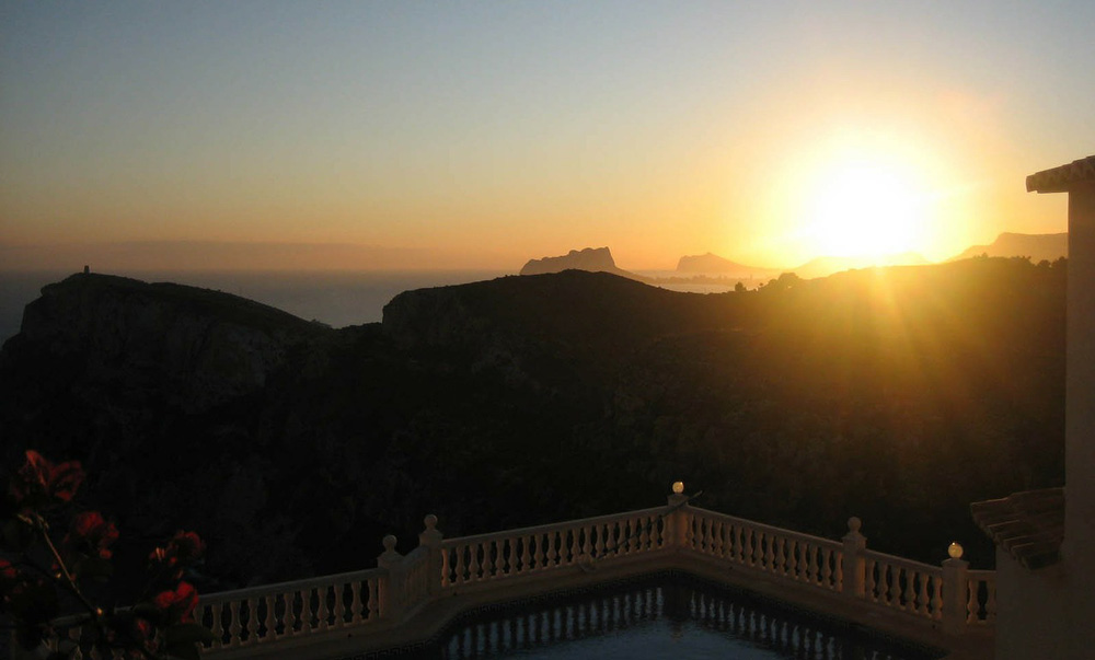 Breathtaking view from the terrace of a Costa del Sol property.