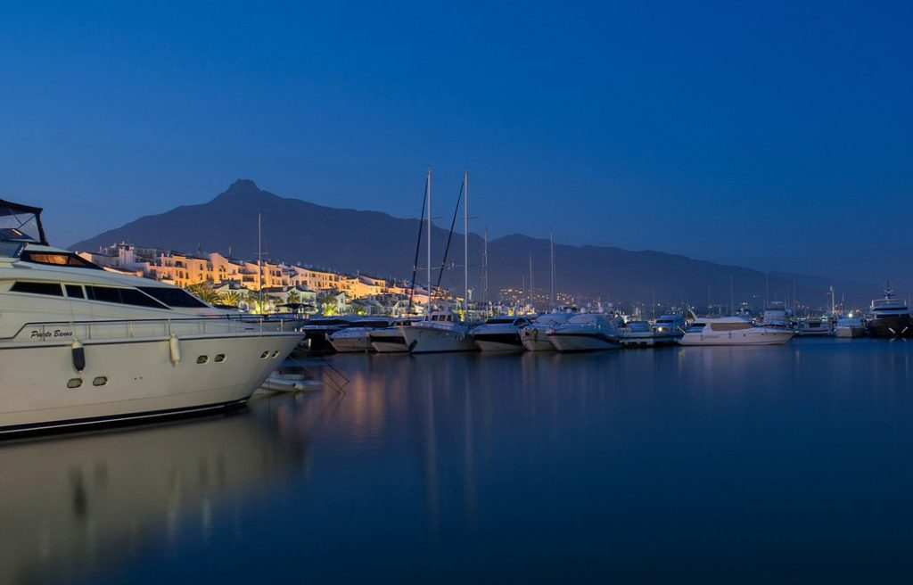 Buyers of Marbella property enjoy multiple picturesque marinas along the coast.