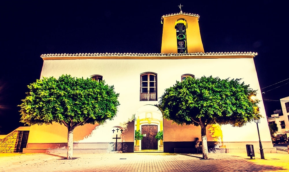 Santa Gertrudis property market is interlaced by historic buildings such as this 18th-century church.