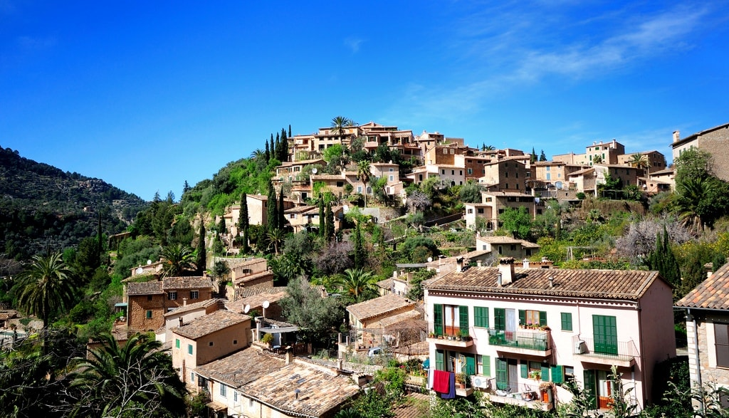 deia village houses valley mallorca spain