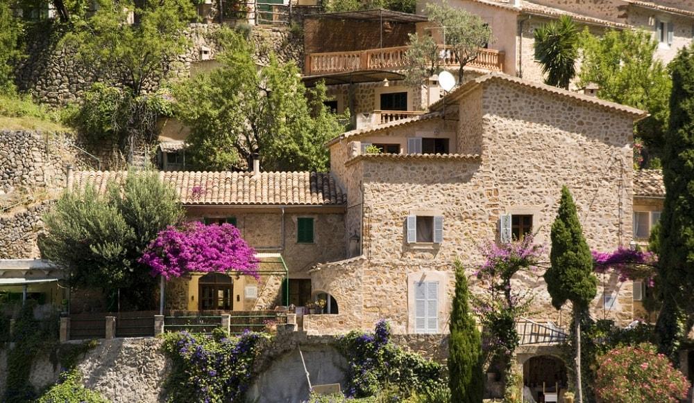 deia village stone houses mallorca