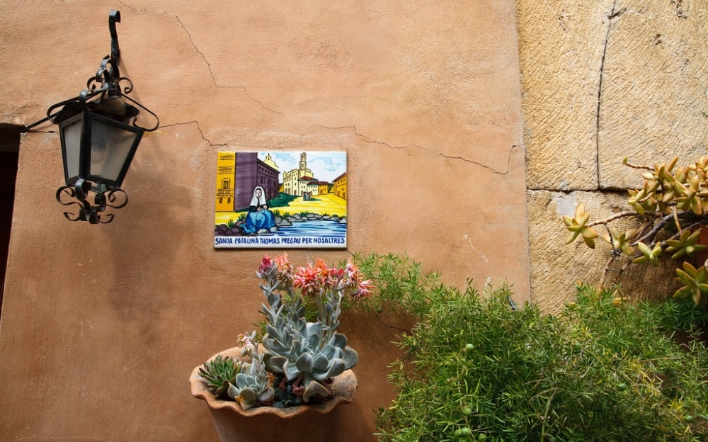 Traditional house wall of Valldemossa property market.