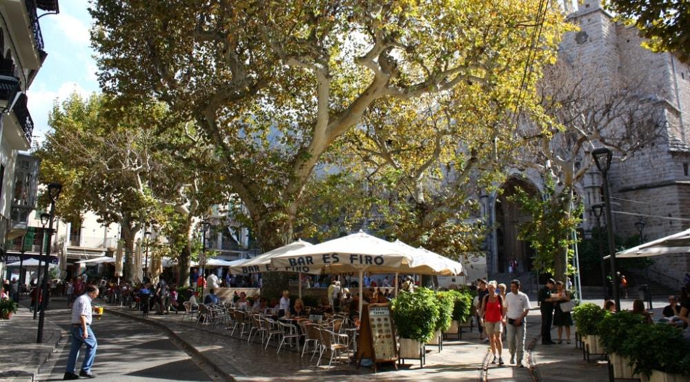 soller main square cafes mallorca