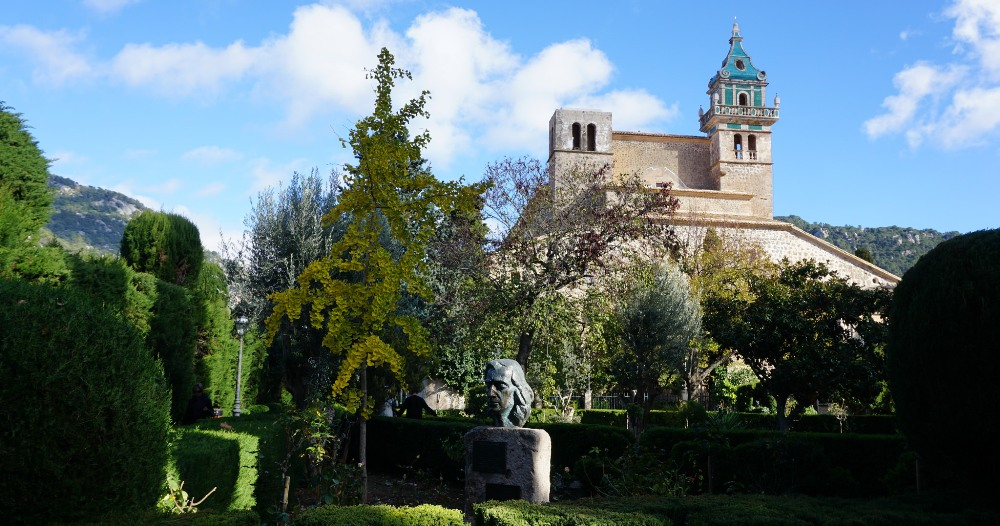 Valldemossa property market surroundings, Monastery Frederic Chopin monument.