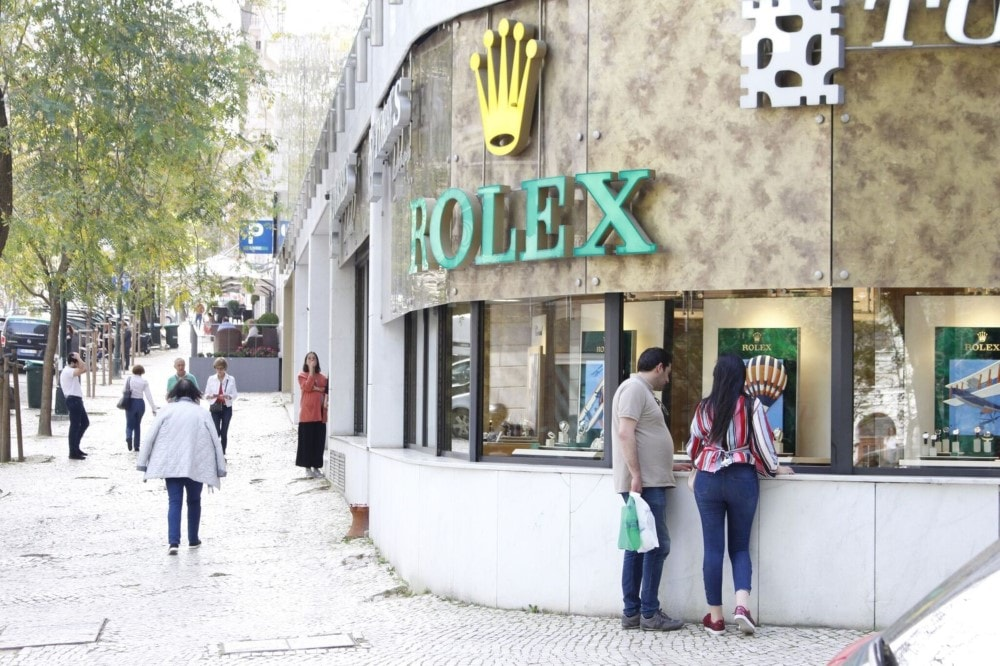 rolex shop in a santo antonio property guide by casafari lisbon portugal
