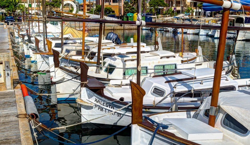 Colonia san jordi property market surroundings - marina boats.