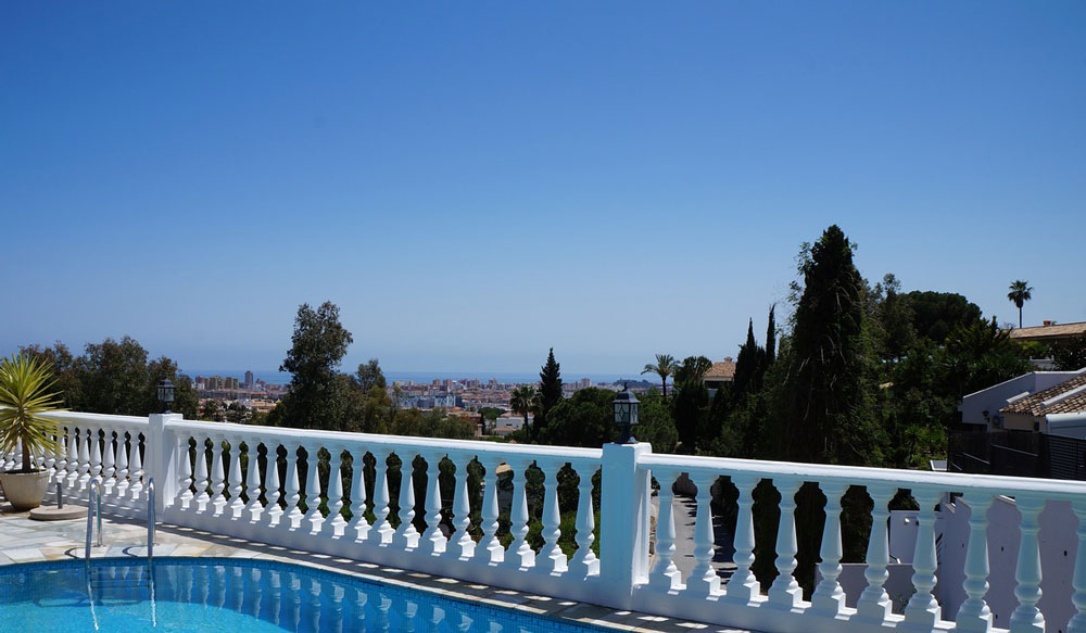Spectacular view from a Malaga property.