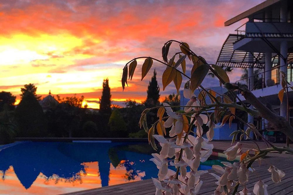 Beautiful sunset view from El Paraiso property.
