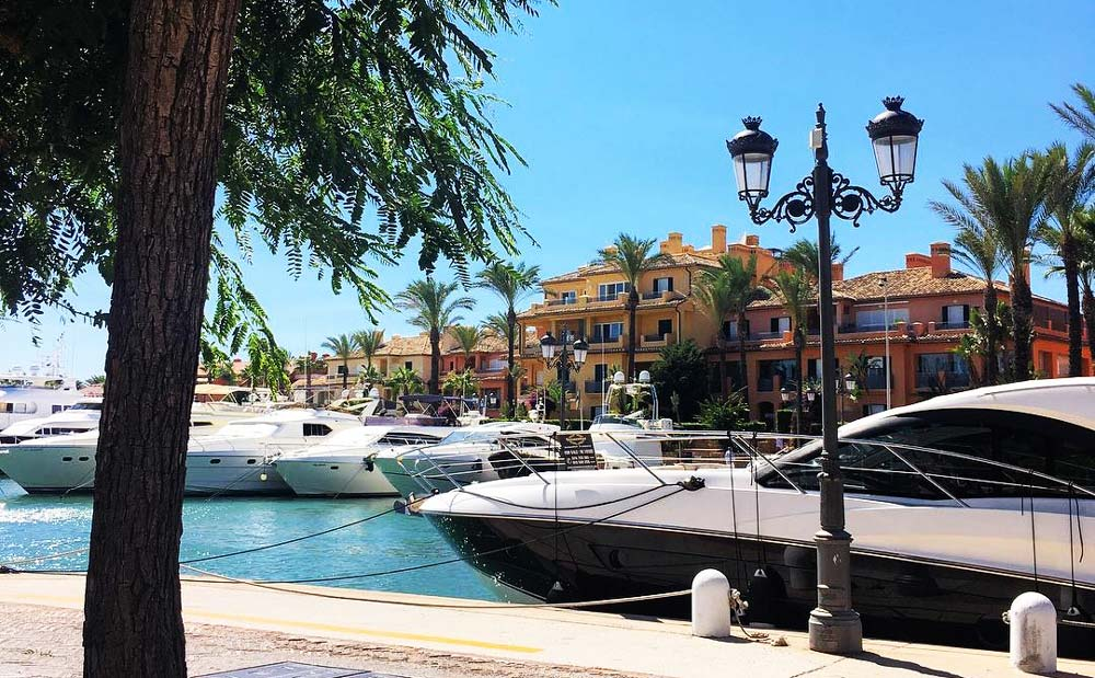 Sotogrande Costa property market is within a walking distance from the local marina.
